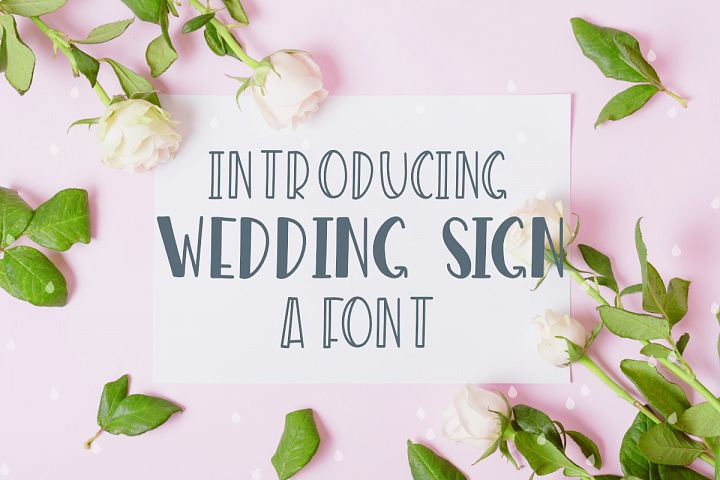 Wedding Sign Font