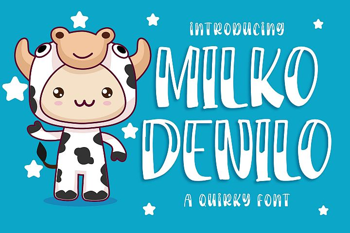 Milko Denilo a Quirky Font
