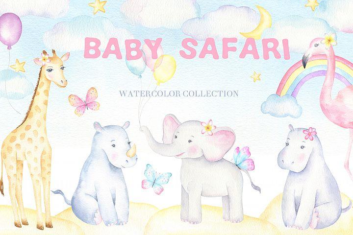 Baby Safari Watercolor Collection
