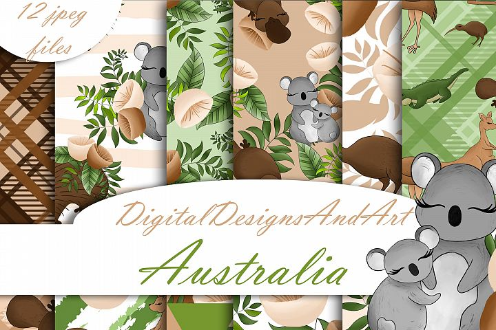 Australian animals digital paper