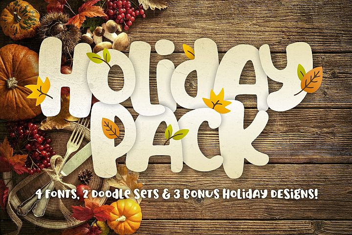 Holiday Font Pack