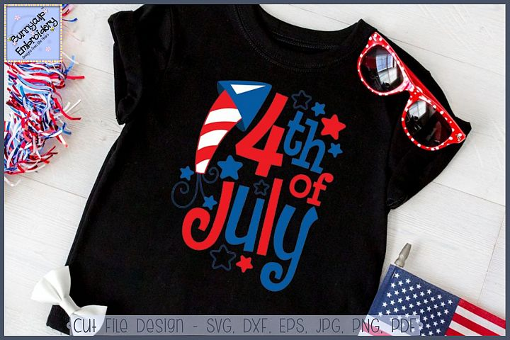 4th of July SVG Cut File and Clipart