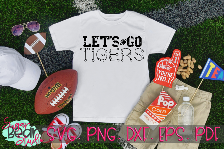 Lets Go Tigers Distressed - A Sport SVG