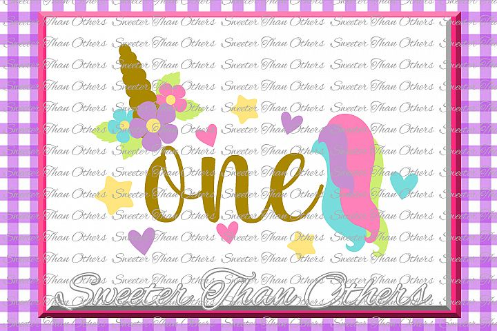 First Birthday SVG, Birthday Unicorn svg