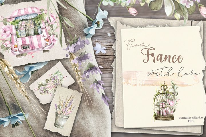 From France with love. Watercolor collection
