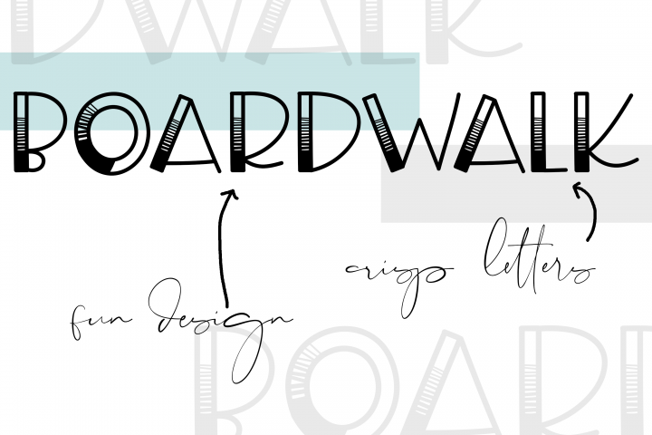 Boardwalk - A Fun Handwritten Font - Free Font of The Week Design1