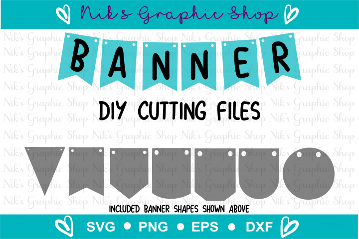 Banner Svg, Bunting Banner Svg, Banner Cut Files, Flag Svg