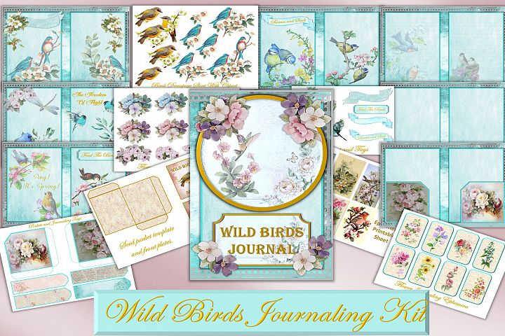 Printable Journal Kit with free Ephemera and clipart
