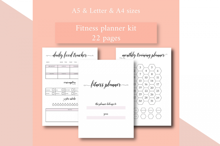 Health and Fitness Planner, Workout Planner, Food Diary