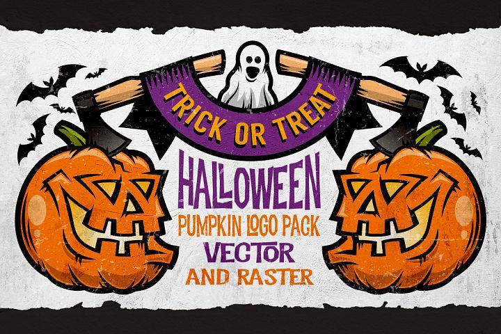 Halloween Pumking Logo Set