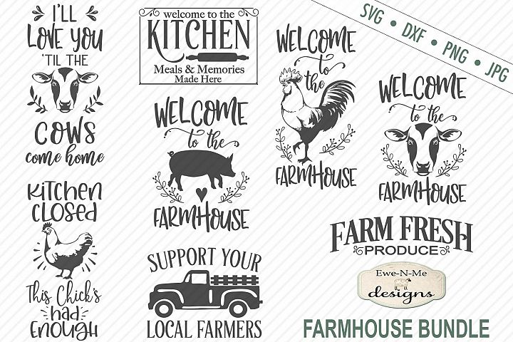Farmhouse Bundle - Farm Animals SVG DXF Cut Files