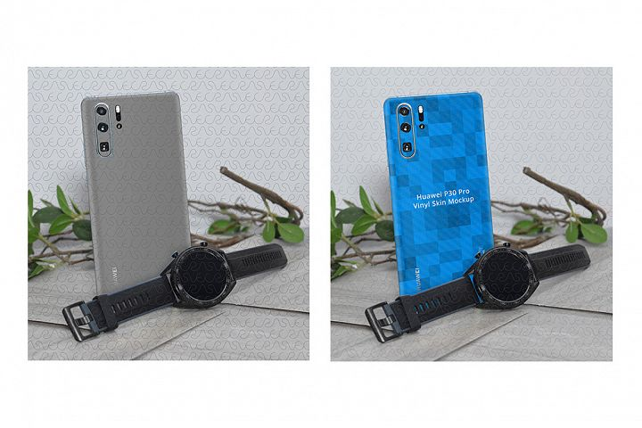 Huawei P30 Pro Vinyl Skin Design Mockup 2019 Promotional