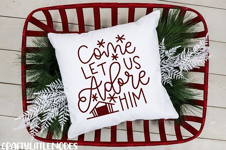 Mini Christmas Bundle - Hand lettered SVG Cut Files example 3