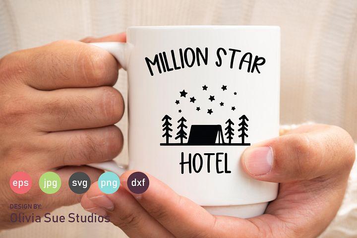 Million Star Hotel SVG Cut File