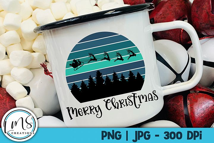 Merry Christmas PNG, JPG, Sublimation, Print n Cut
