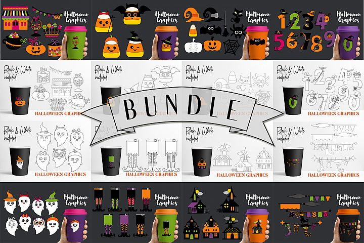 Halloween Bundle - Clip art Illustrations and Graphics