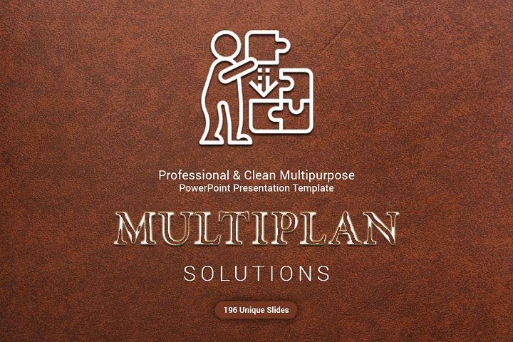 Modern MultiPlan PowerPoint Template