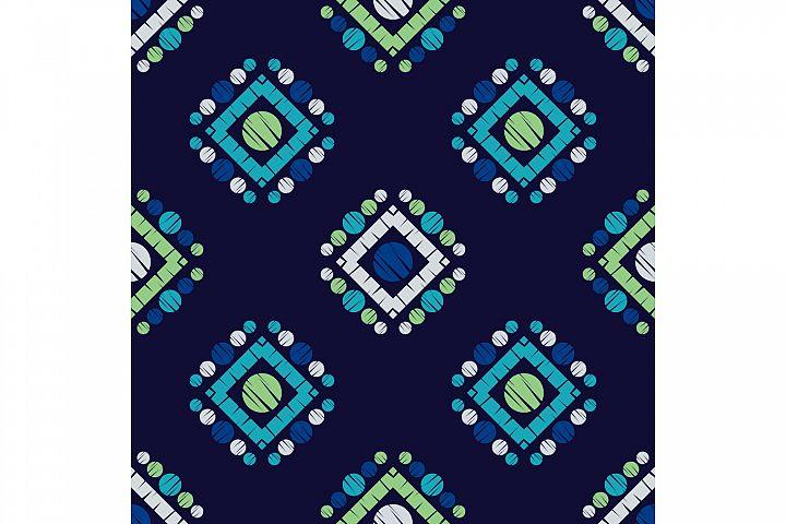Polka dot ornament. Set of 10 seamless patterns.