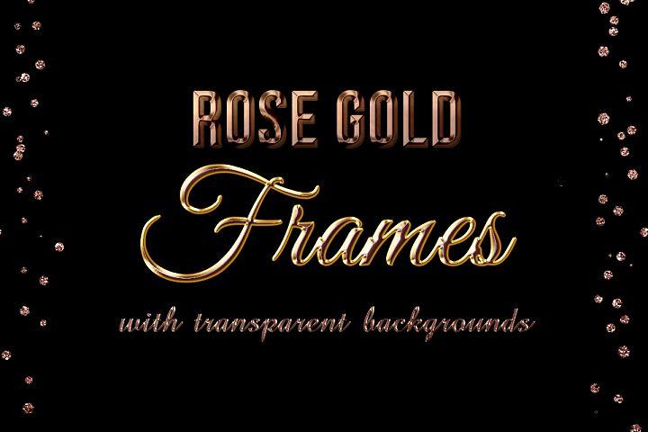Rose Gold Glitter Frames