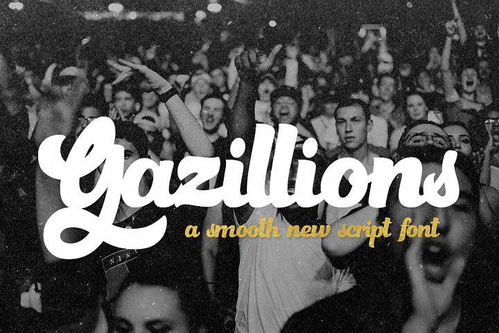 Gazillions Script Font Duo