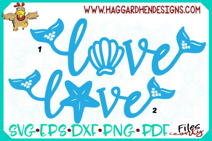 Love Word--Mermaid Theme SVG