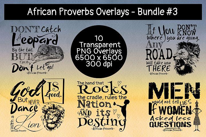 African Proverbs Overlays Bundles #3
