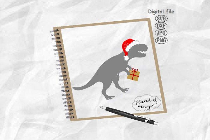 Santa Dinosaur Svg, Dinosaur Svg, Santa Saurus Svg, Dino Svg