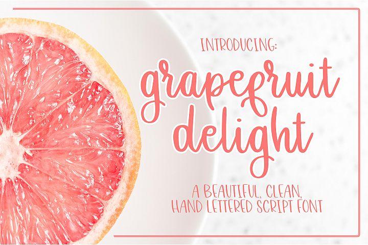 Grapefruit Delight Font - Hand Lettered Script