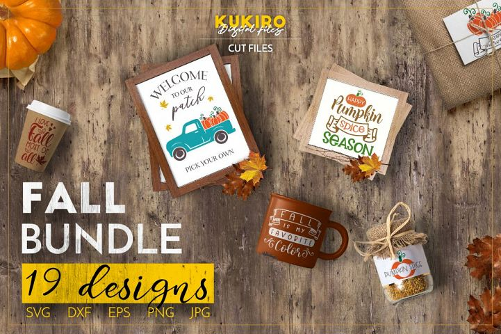 Fall Bundle SVG Cut files - Thanksgiving Pumpkin Bundle