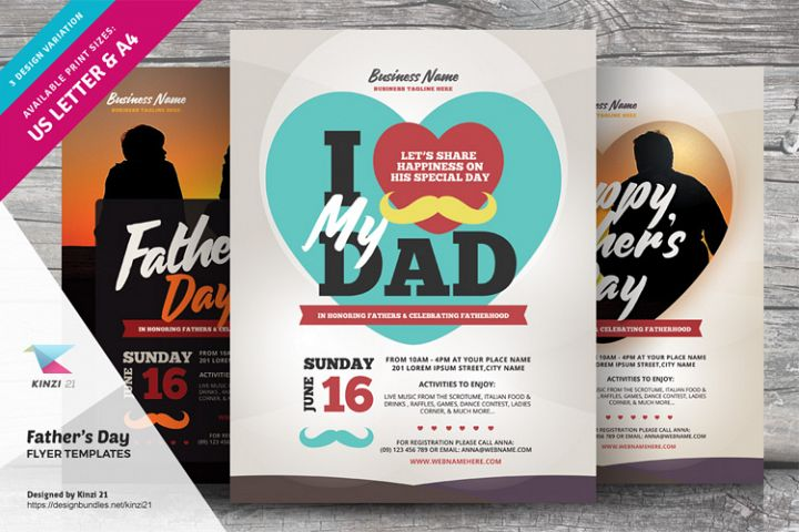 Fathers Day Flyer Templates