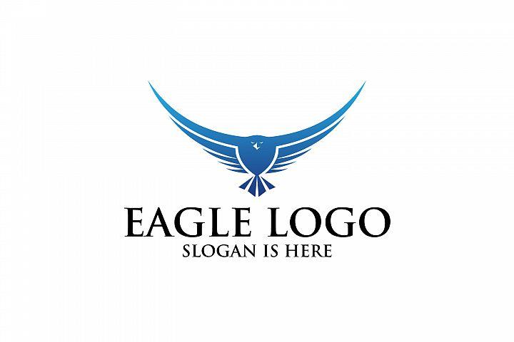 elang terbang, vektor Elang, desain logo Burung Liar