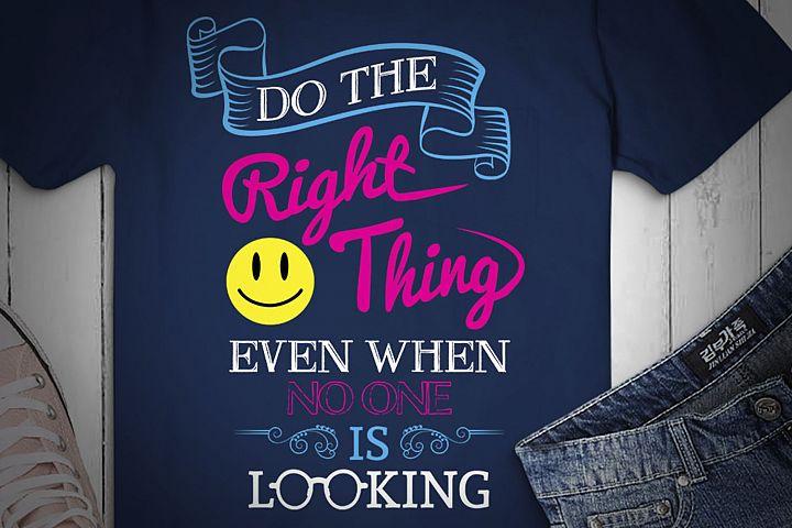Do The Right Thing Even When No One Is Looking, SVG Design