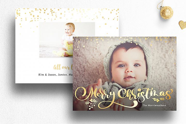 Photo Christmas Card Template Photoshop| 014