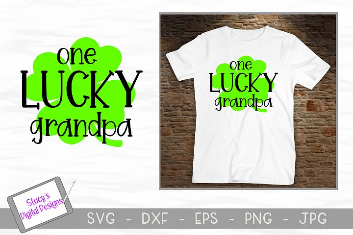 St. Patricks Day SVG - One Lucky Grandpa SVG