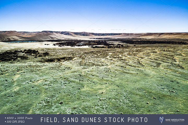 Field, Sand Dunes stock photo