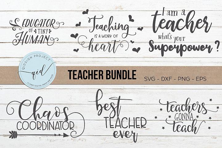 Teacher Bundle, Teacher cutting files, SVG DXF PNG EPS