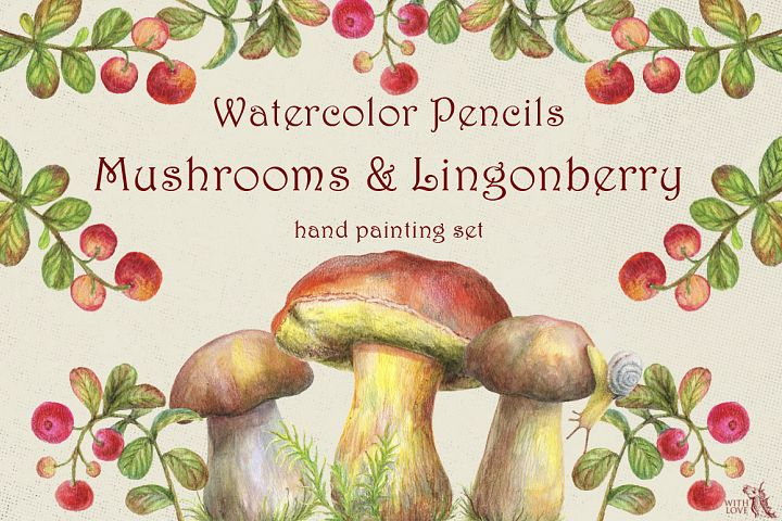 Mushrooms and Lingonberry Set
