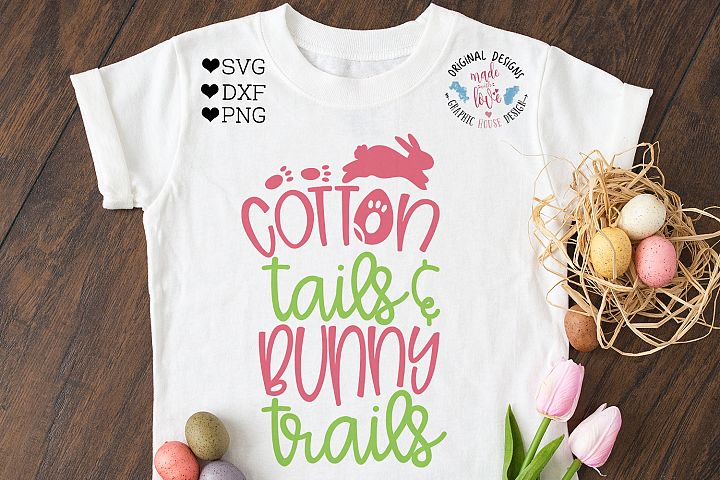 Easter Cut File - Cotton Tails Bunny Trails