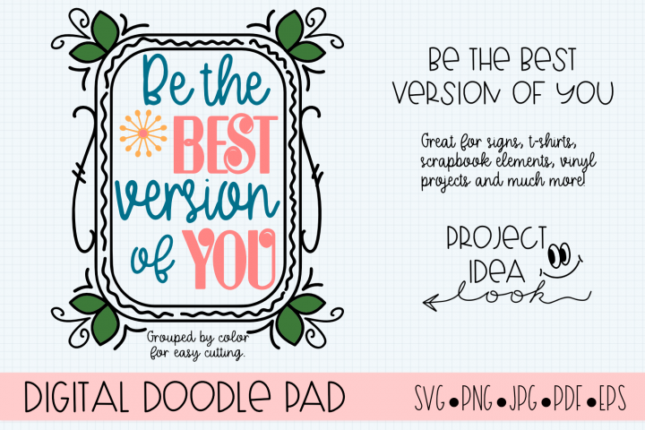 Inspirational SVG Cut File for Silhouette & Cricut