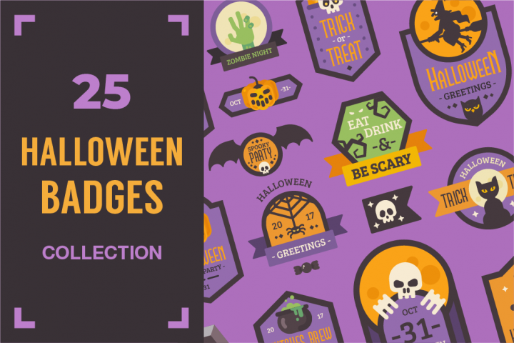 Halloween badges collection