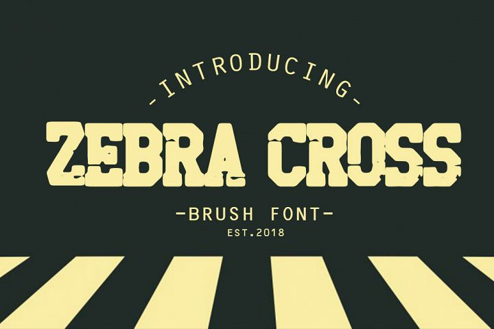 zebra cross brush font