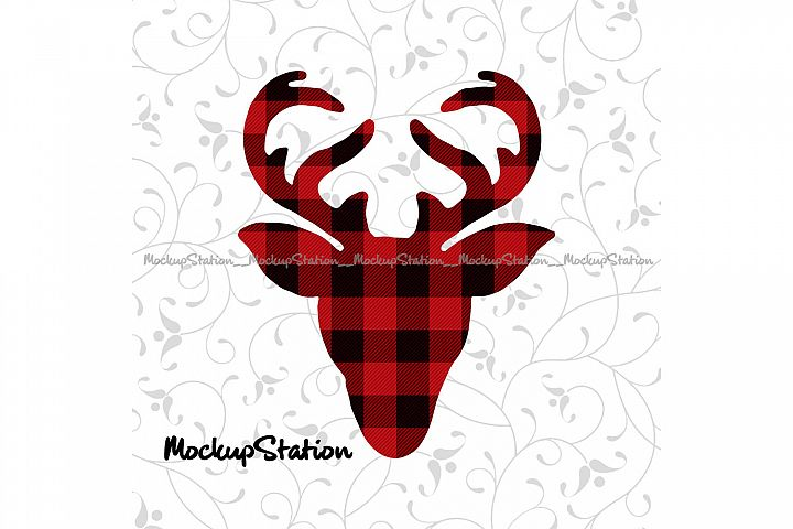 Christmas Reindeer Head Sublimation Design Transfer File PNG