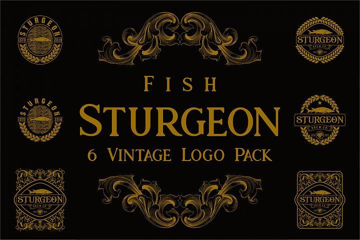 Sturgeon Vintage Logo Pack