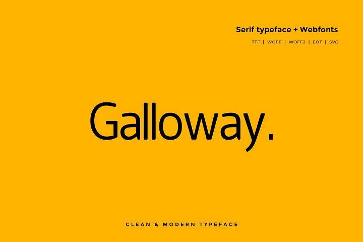 Galloway Modern Typeface WebFont