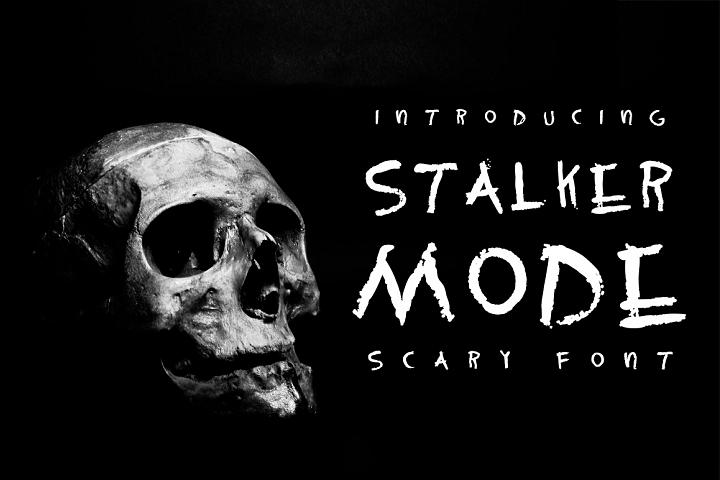 Stalker mode - Scary font