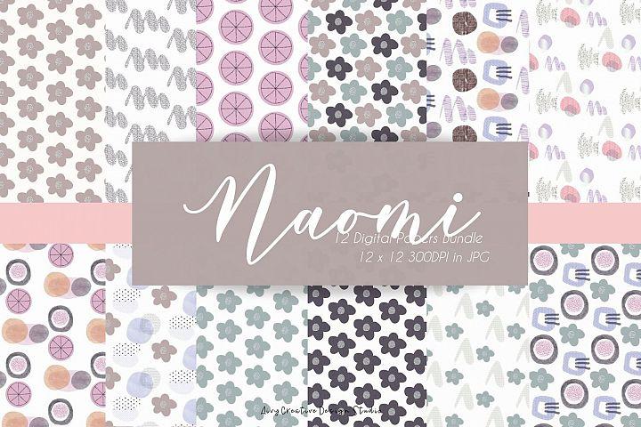 Naomi Abstract Digital Paper