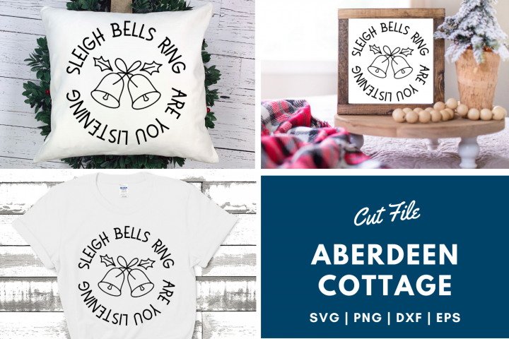 Sleigh Bells Ring Are You Listening - Christmas T-Shirt SVG