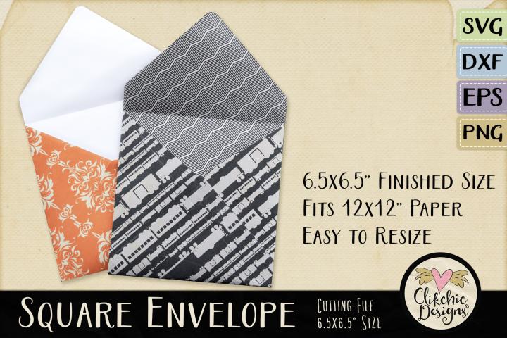 Square Envelope SVG - Square Envelope Cutting File Template