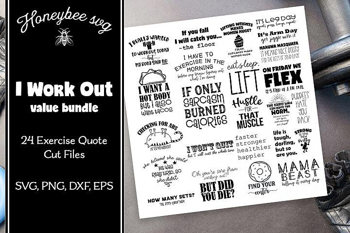 Workout Bundle SVG Cut Files