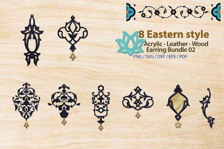 Eastern style Acrylic Leather Wood Earring Bundle 02